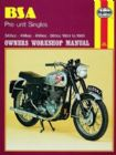 BSA Pre-unit Singles Haynes Manual (54 - 61)